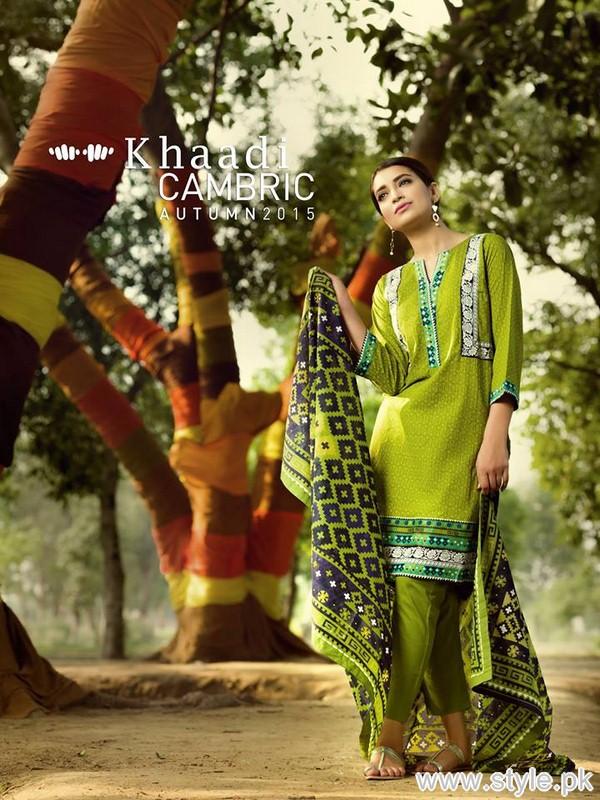 Khaadi Cambric Dresses 2015 For Autumn 3