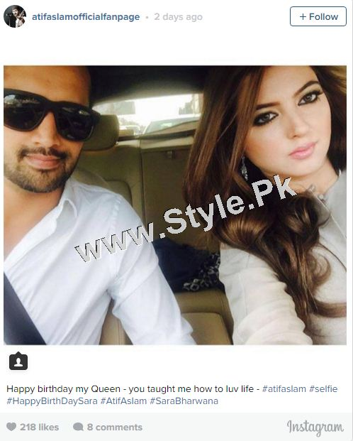 See Atif Aslam's Birthday Wish for Wife Sara