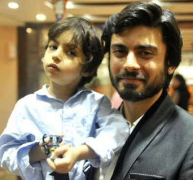 Fawad khan with son Ayyan - coolest pakistani celebrity dads with their kids