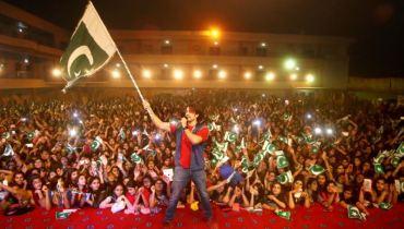Ali Zafar Holding Pakistani Flag