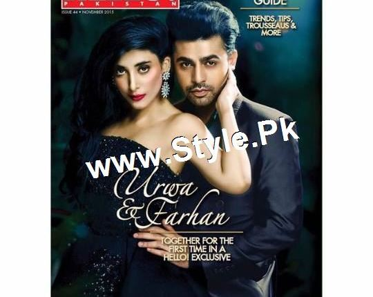 See Farhan Saeed and Urwa Hocane look stunning on the cover of Wedding guide by Hello Pakistan