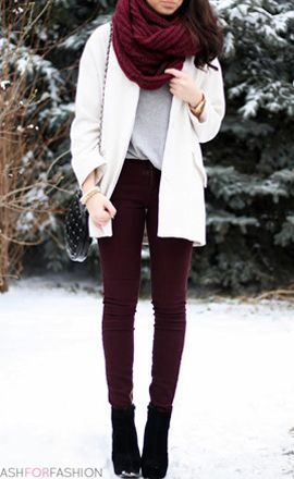 How to Manage White Dresses in Winter- jeans