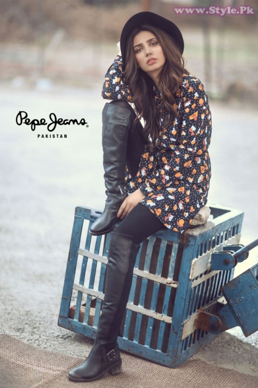 Mahira Khan for Pepe Jeans Pakistan Winter 2015 Campaign - #MKLovesPepe (5)