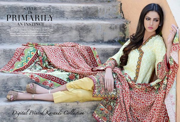 Motifz Karandi And Linen Collection 2015 For Women0015