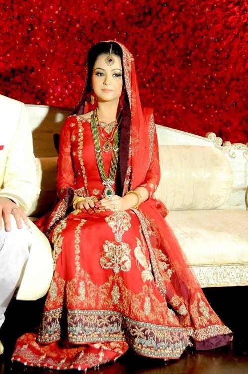 Pakistani Barat Dresses 2016- orange