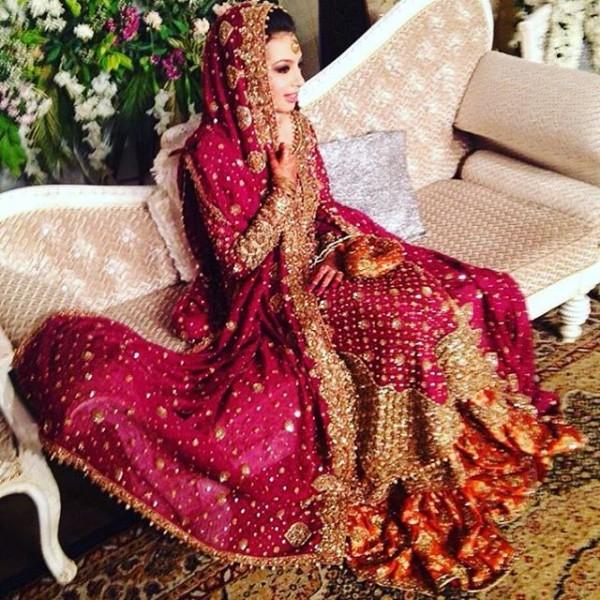 Pakistani Barat Dresses 2016- pink