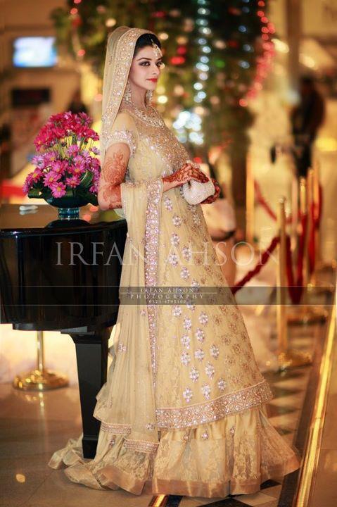 Pakistani Walima dresses - long shirt lehnga