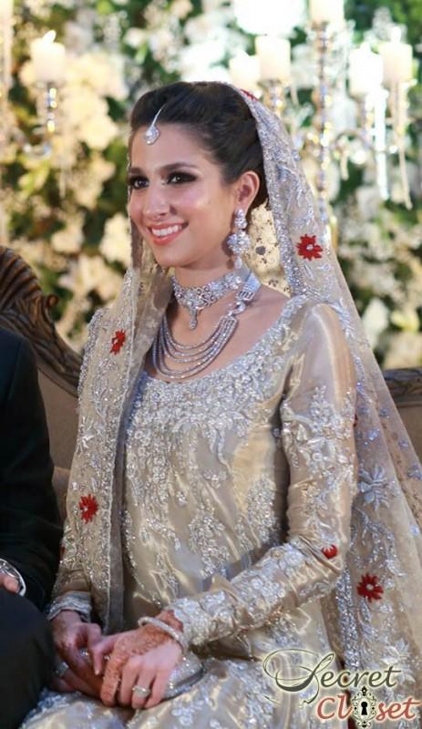 Silver Pakistani Walima dresses