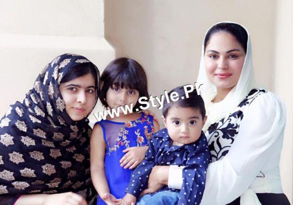Pictures of Veena Malik's and Malala's family in Dubai (4)