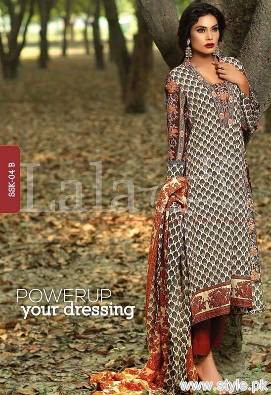 Sana Samia Winter Dresses 2015 by Lala Textile 7