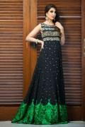 black and green wedding dress