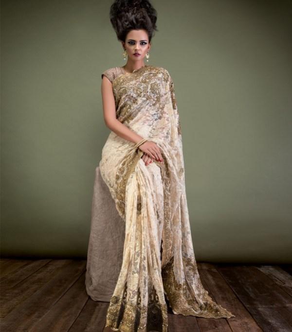 golden bridal dress