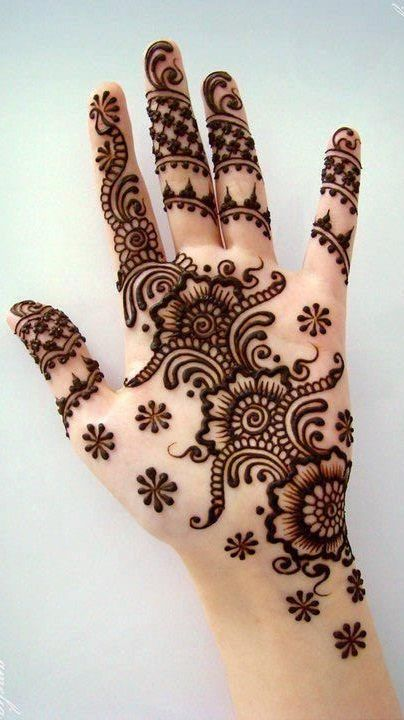 pakistani mehndi designs 2016-flower