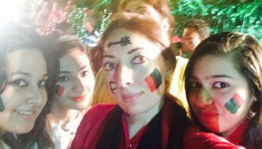 selfie of sharmila farooqi