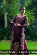 stylish purple wedding dress