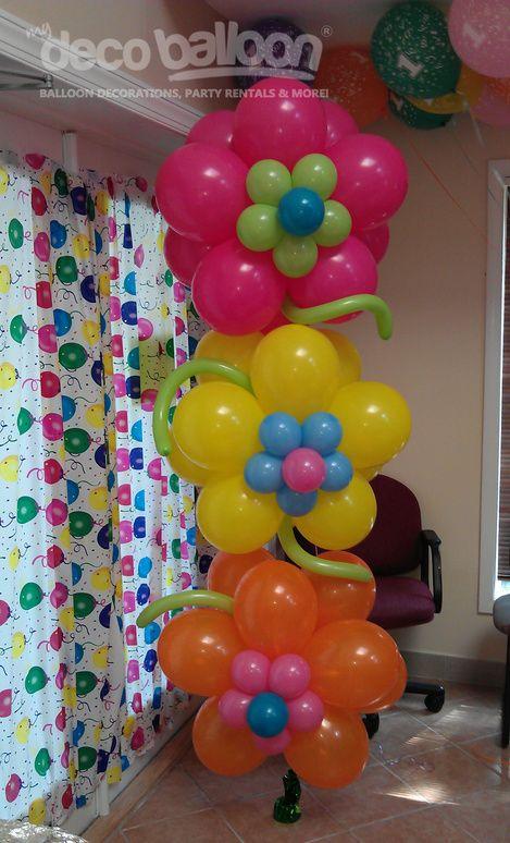 Birthday Decoration Ideas 2016 -flower balloons