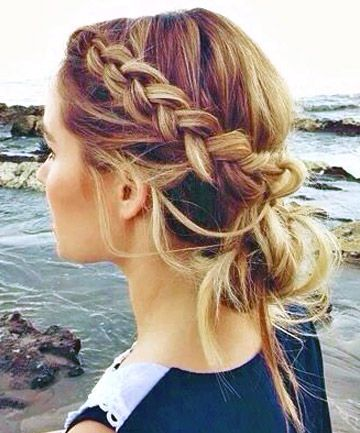 Braided Hairstyles 2016 for Girls -bun