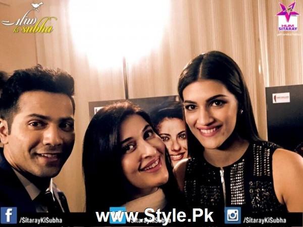 Cast of movie Dilwale with Shaista Lodhi in Sitaray Ki Subha (6)