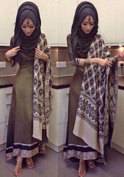 Formal Hijab Styles 2016- black