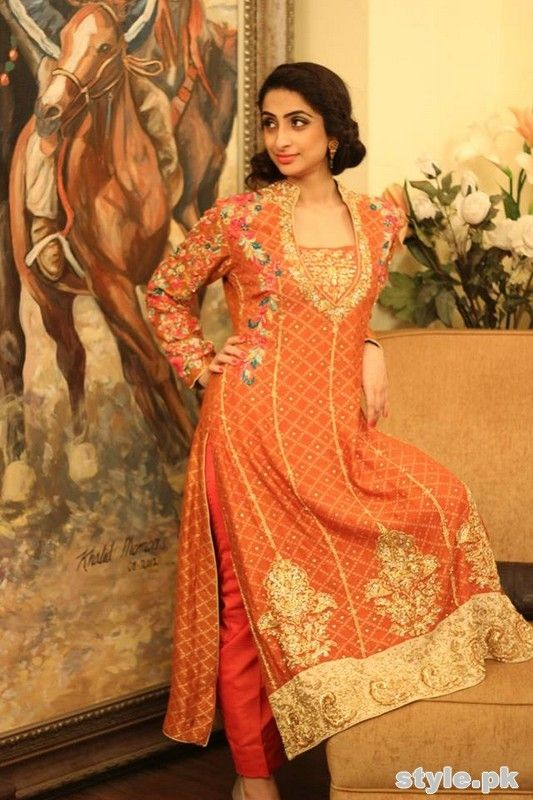 Orange Ladies Fancy Dresses