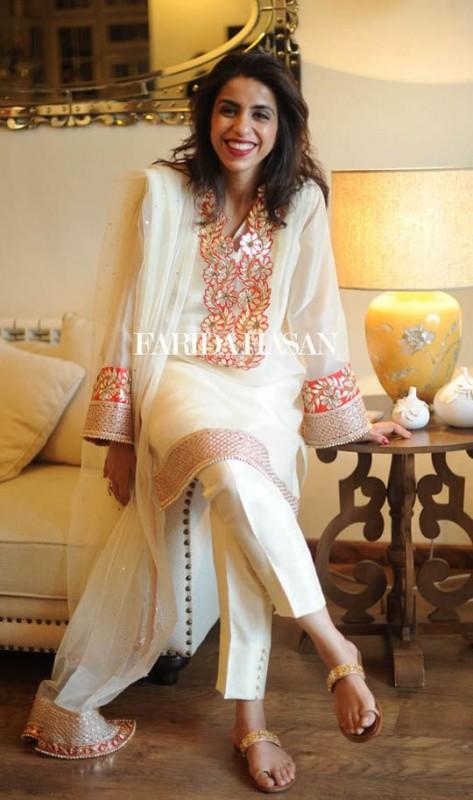 White Gota Fancy Dresses