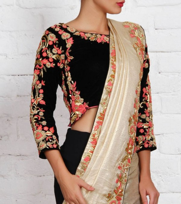 Black and White Latest Sarees Designs