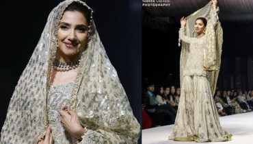 Mahira Khan walks the ramp for Umar Sayeed