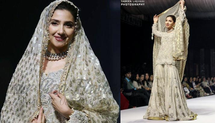 Mahira Khan walks the ramp for Umar Sayeed