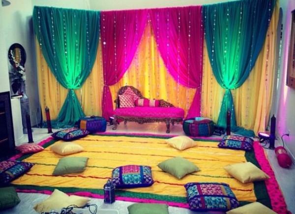 Mehndi decoration ideas 2016-indoor