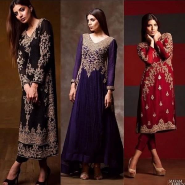 Black Pakistani Fancy Dresses For Girls