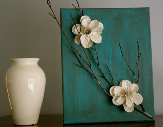 Room Decoration Ideas 2016 for Girls- canvas white flower