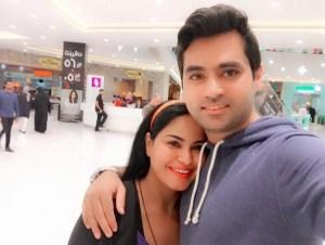 Veena Malik with husband latest pictures