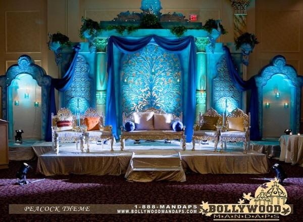 Wedding  Stage Decoration Ideas 2016-blue