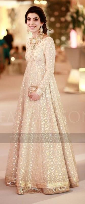 Off White Fancy Girls Dresses