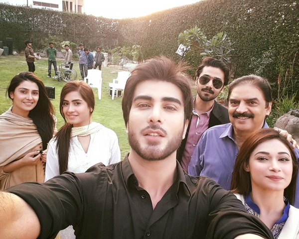 Cast of Tum Kon Piya and Mann Mayal with Zaid Ali (3)