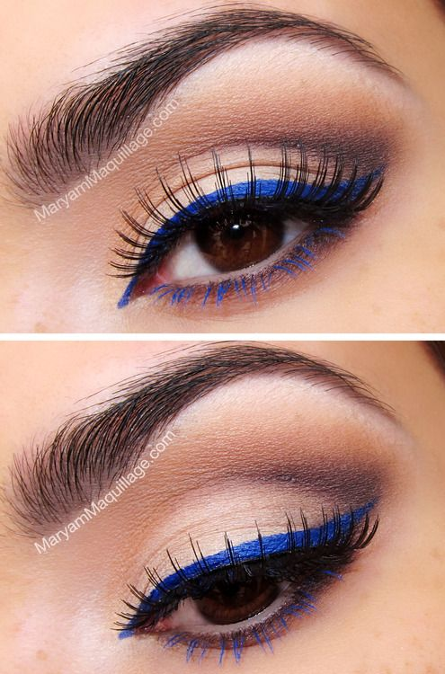 Colorful Graphic eyeliner- blue2