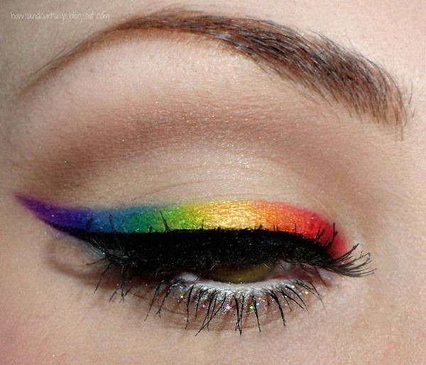 Colorful Graphic eyeliner - colorful