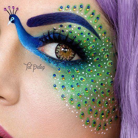 Makeup Art - peacock