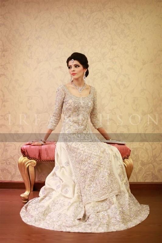 Pakistabi Bride in White