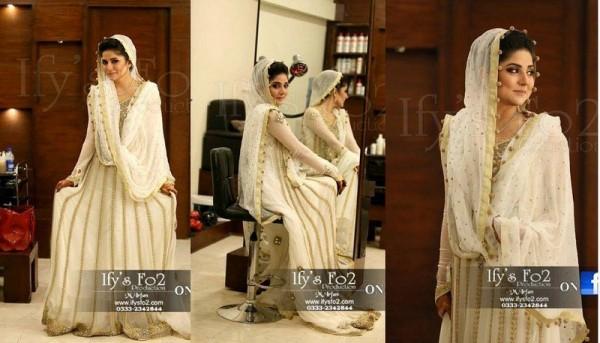 Pakistabi Bride in White- sanum baloch