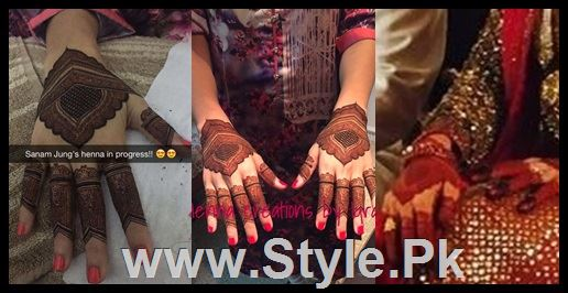 See Sanam Jung's Henna's Details