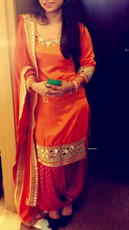 Shalwar Kameez Trend 2016- orange