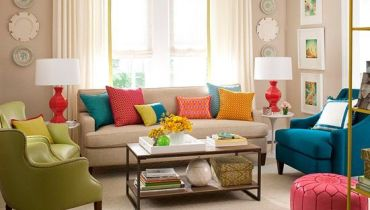 Add colors in your Living Room
