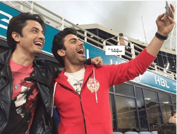 Exciting Selfies of Fawad Khan with Ali Zafar at PSL