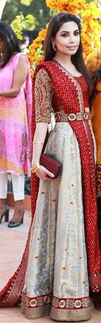 Indian Wedding lehngay 2016- red and white