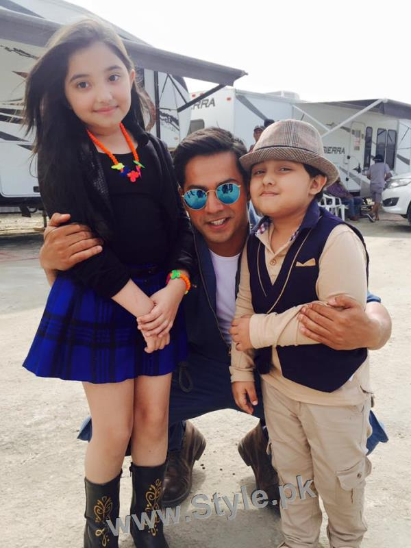 Javeria Saud's kids with Varun Dhawan and John Ibrahim (7)