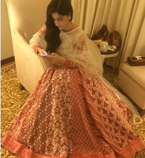 Maya Ali at the premiere of Sanam Teri Qasam. mawra
