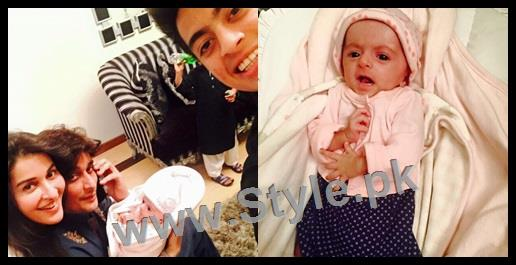 Pictures of Sahir Lodhi's Newly Born Daughter 1