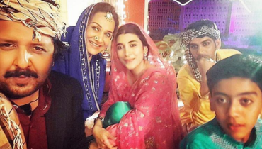 Pictures of Urwa Hozane from the set of Udaari
