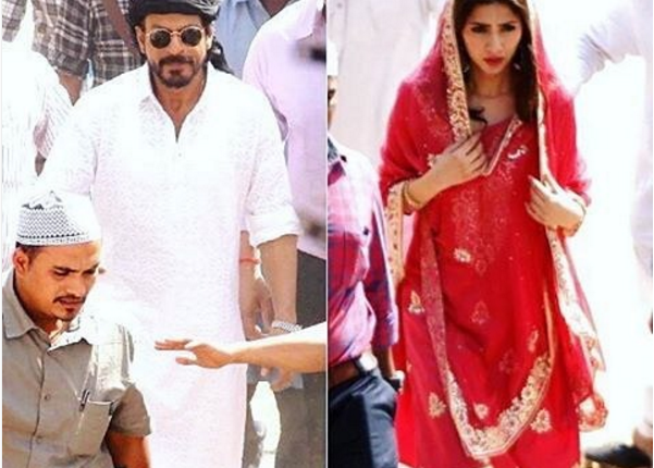 Shahrukh Khan and Mahira khan snapped in Ahmedabad